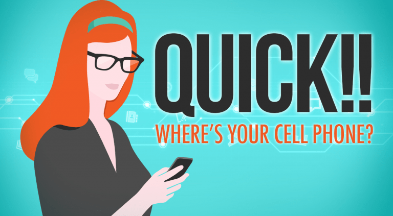 Quick Where's Your Cell Phone?